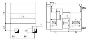 Esquema y dimensiones descascaradora neumática serie PCA-10 2. Máquina para arroz. Agromay